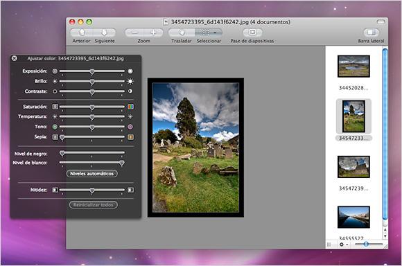 Uso de Vista Previa en el Mac (Retoque de imágenes)